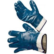 Перчатки нитриловые, полный облив на краге