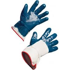 Перчатки нитриловые, частичный облив на краге