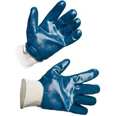 Перчатки нитриловые, полный облив на резинке