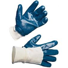 Перчатки нитриловые, частичный облив на резинке