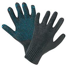 Перчатки вязаные х/б 4 нити черные