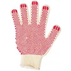Перчатки вязаные х/б 3, 4 нити с ПВХ